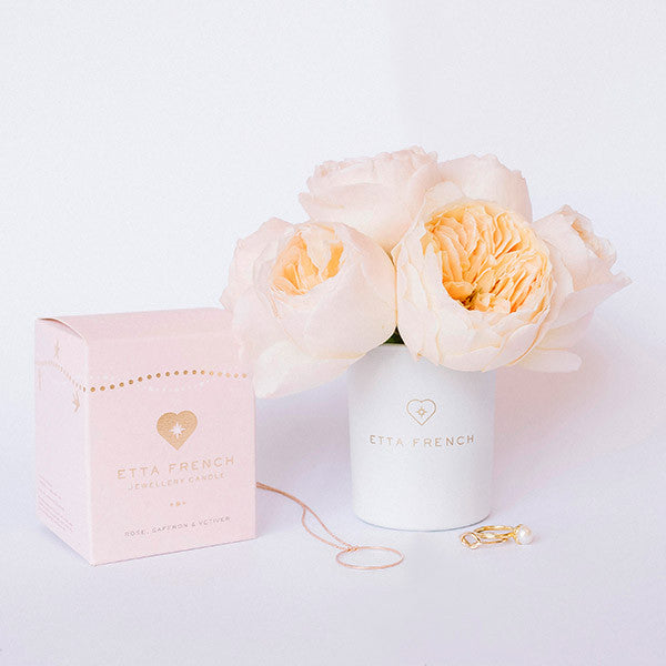 Rose, Saffron & Vetiver - Jewellery Candle