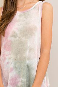 Watercolor Layered-Back Tank
