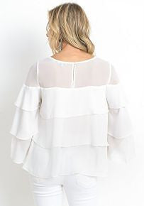 Tiered Ruffle Top