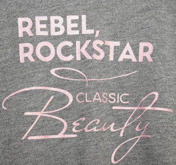 Rebel, Rockstar, Classic Beauty Short Sleeve Tee