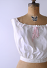 1900's Butterfly Camisole / Antique Cotton Bodice / Small