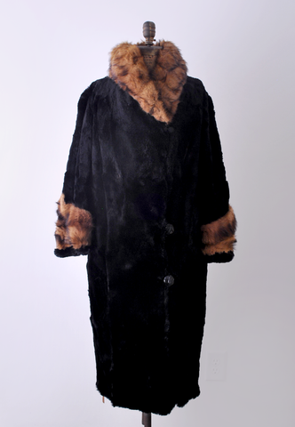 1920's flapper fur coat