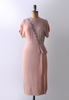 The Commodore / 1940's Peach Beaded Dress