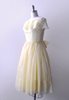 1950's Lemon Torte Party Dress / Pastel Yellow Organza
