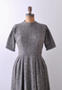 1960's Tweedly Gray Wool Dress / Small