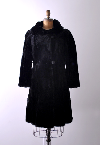 40's Hudson Seal Fur Coat