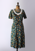 40's green and floral dress