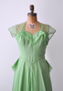 1940's organza gown. bright green.