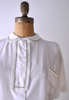 1950's Merriday Lounge Top / White Blouse / L