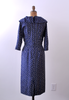 1950's Penelope Dot Dress / Navy Blue Polka Dot Print / M
