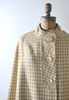 60's yellow plaid cape coat