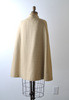 1960's Sherlock Plaid Cape / Yellow & Cream Coat / S