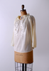 1970's Dandelly Peasant Blouse / Light Yellow / M