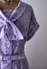 1950's purple and white print detail