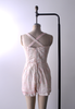 1950's Little Leaf Pink & White Bathing Suit