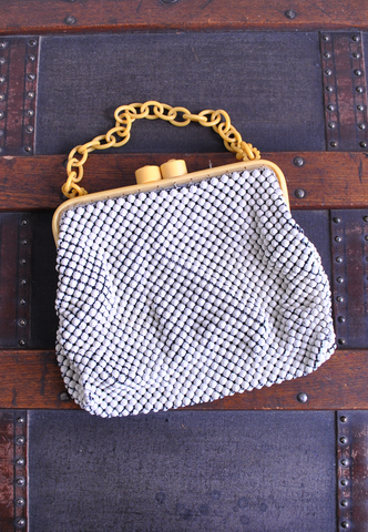 40's alumesh & celluloid bag