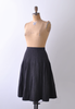 1960's Charcoal Wool Pleated Skirt / Small