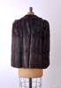 1940's Chocolate Brown Mink Fur Cape
