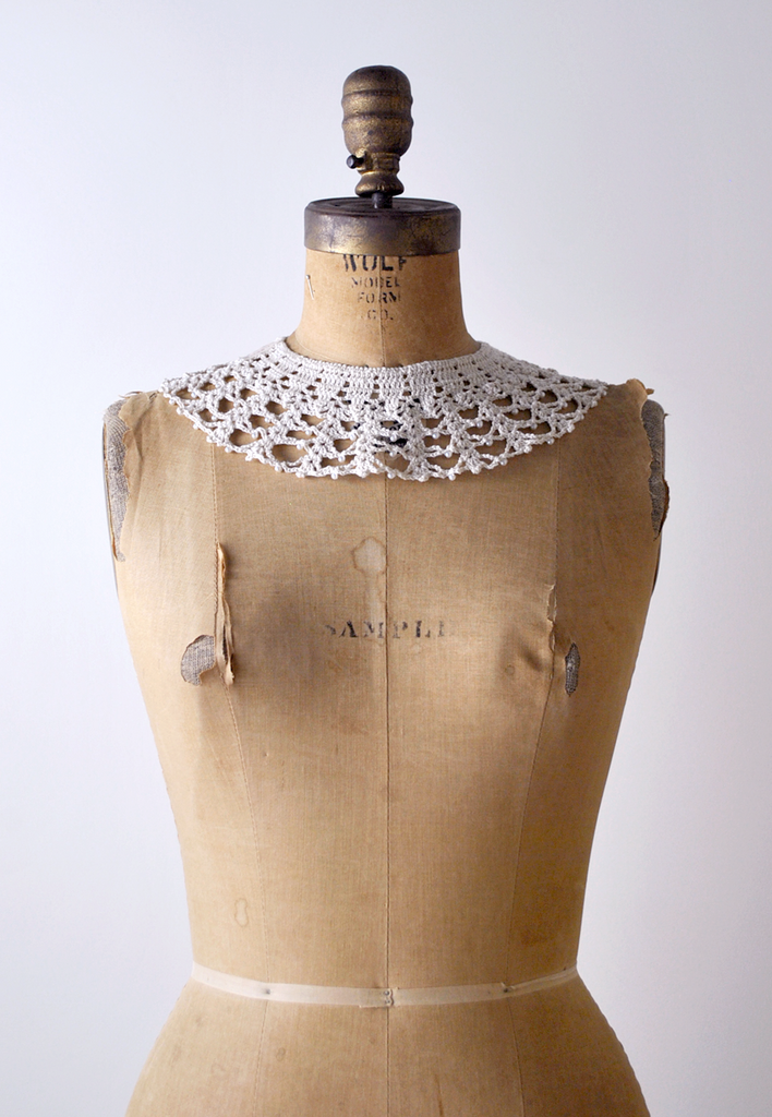 Lace & Pearl Crocheted Collar