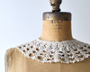 Vintage Pearl & Crochet Lace Collar