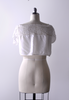 1910's Knotted Net Lace Camisole / White Cotton Blouse