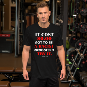 It Cost You Nothing Black Graphic Tee - Helluva Vibe Apparel