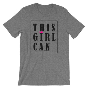 This Girl Can Letter Print Slogan Tee - Helluva Vibe Apparel