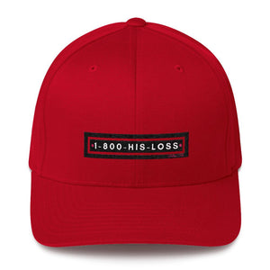 1-800-His-Lost -Badge Logo Structured Twill Cap - Helluva Vibe Apparel