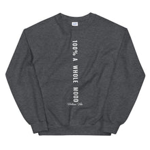 100% A Whole Mood Letter Print Sweatshirt