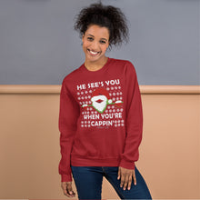 No Cappin' Slogan and Santa Print Sweatshirt