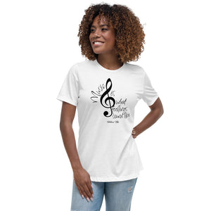 Music Is What Feelings Sound Like Tee - Helluva Vibe Apparel