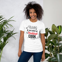 World's Greatest & Prettiest Cook Slogan Tee