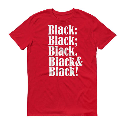 Black on Black Slogan T-shirt