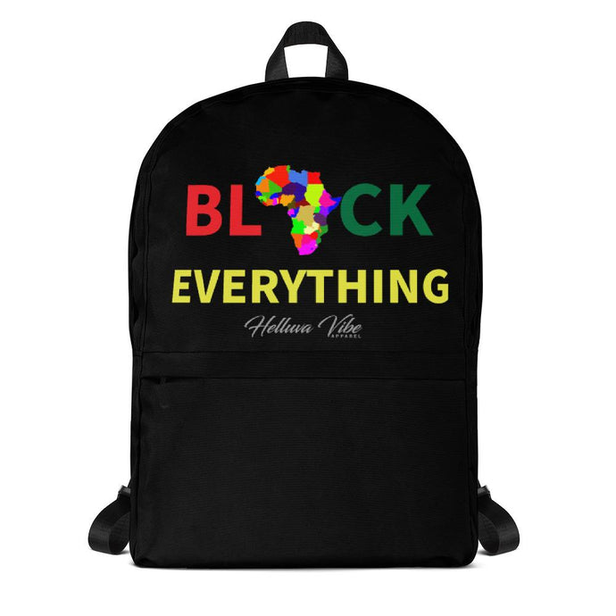Black Everything Slogan Backpack