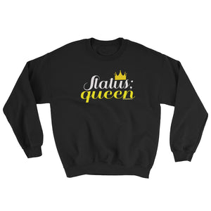 Status Queen Black Graphic Print Crew Sweatshirt - Helluva Vibe Apparel