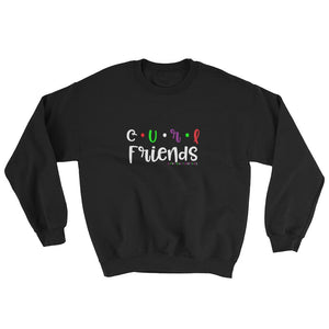 Curl Friends Black Slogan Sweatshirt - Helluva Vibe Apparel