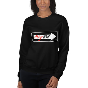 My Way Graphic Print Sweatshirt