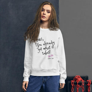 Got What it Takes Letter Print Sweatshirt - Helluva Vibe Apparel