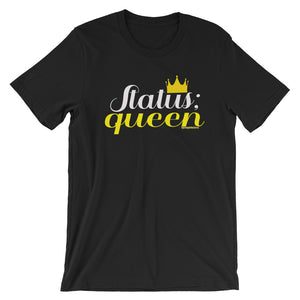 Status Queen Black Graphic Print Short-Sleeve Unisex T-Shirt - Helluva Vibe Apparel