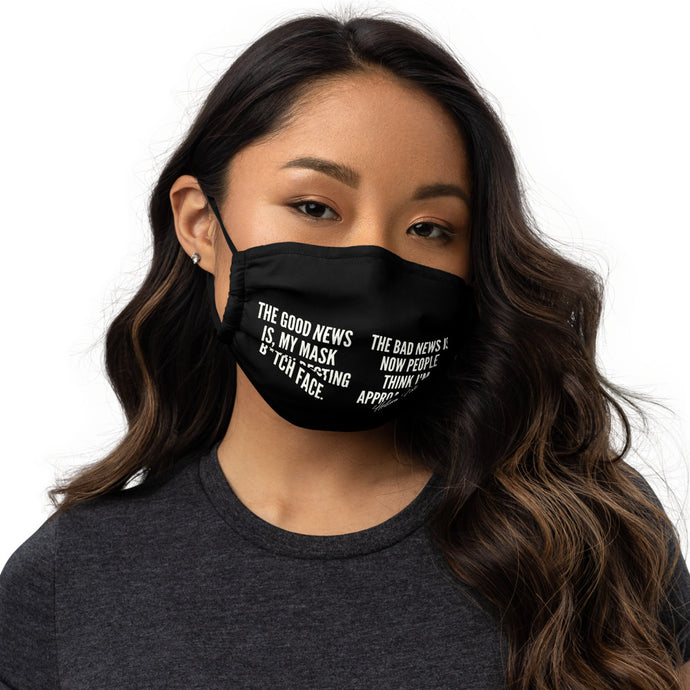 Good News Bad News face mask - Helluva Vibe Apparel