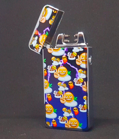 2-Sided - Emoji Time - Electric Arc Laser Plasma Lighter - Flux Lighters