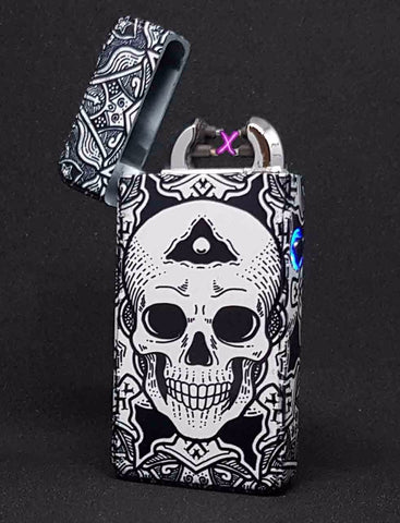 Skull Art Plasma Electric Lighter - Flux Lighters