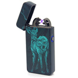 Techno Deer Art Plasma Electric Lighter - Flux Lighters