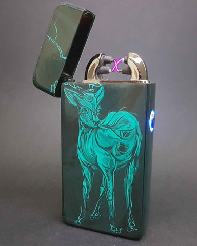 Techno Deer Art Plasma Electric Lighter