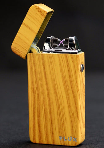 Beech Wood Plasma Electric Lighter - Flux Lighters