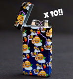 Bulk Buy Emoji Chill Plasma Electric Lighter x 10! [UK only] - Flux Lighters