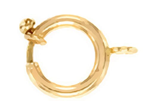 uGems 14K Gold Spring Ring Clasp with Open Top 12mm