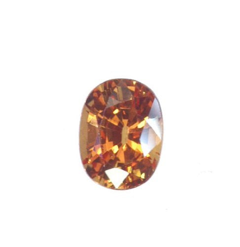 Lab Padparadscha Sapphire Oval Unset Loose Gemstone  9mm