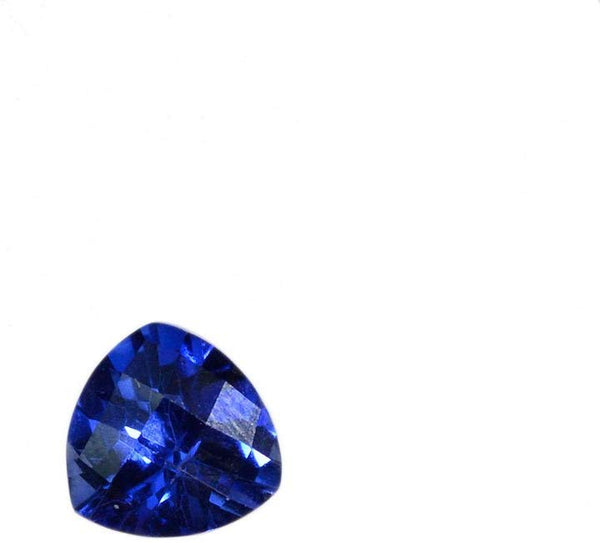 Blue Created Sapphire Trillion Faceted Unset Loose 8mm (1)