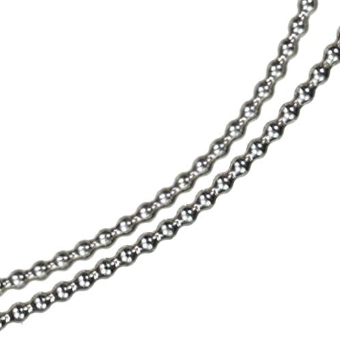 "uGems Bead Wire 18 Gauge (0.040"") Sterling Silver Round Soft Temper (18 Inches)"